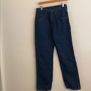 NWT RUSTLER SIZE 29x30 SOLID BLUE JEANS